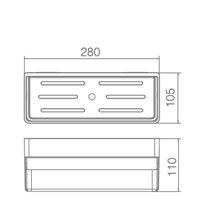 Mensola in PVC bianca rettangolare Imex