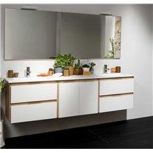 Mobile bagno Life 4 cassetti + modulo centrale e 2 lavabi B10