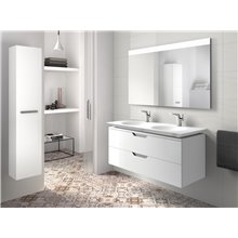 Mobile 120cm bianco e lavabo Kalahari Roca