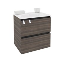 Mobile con lavabo rettangolare in porcellana 60 cm Frassino B-Box BATH+