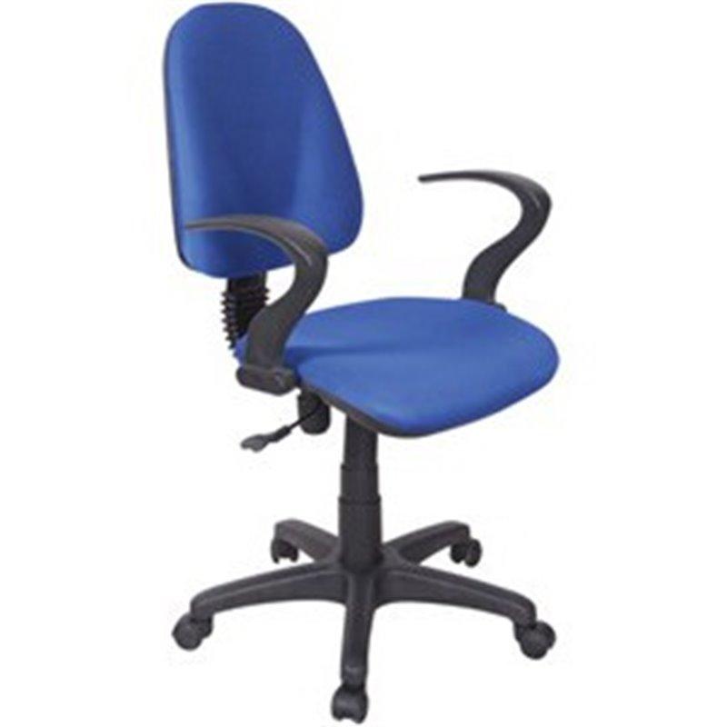Sedia per scrivania con ruote e braccioli aperti azzurra ...
