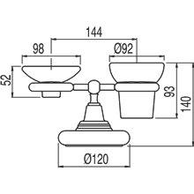 Porta bicchieri - portasapone supra piano in ceramica TRES