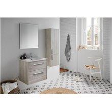 Set mobile con lavabo integrato a 2 cassetti e specchio CUT LINE Sanchis