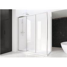 Cabina doccia frontale scorrevole ED vetro argento Profiltek