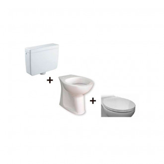 Vaso WC con cassetta esterna alta Accessible