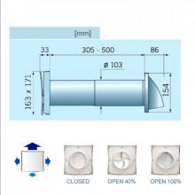 Kit estrattore SOLAR Ø-100 standard