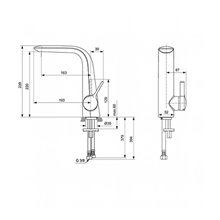 Miscelatore monocomando lavabo 220 Melange Ideal Standard