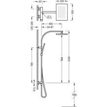 Colonna doccia acciaio SLIM TRES
