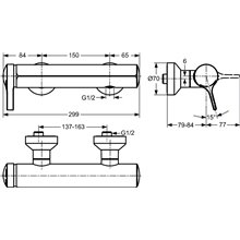 Miscelatore monocomando esterno per doccia Melange Ideal Standard