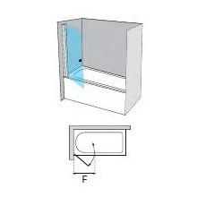 Parete frontale per vasca a battente AC110-70 Profiltek