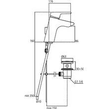 Miscelatore monocomando 5L lavabo Active Ideal Standard