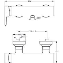 Miscelatore monocomando esterno per doccia Active Ideal Standard
