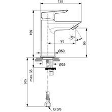 Miscelatore monocomando 5L lavabo Ceramix-Tesi Ideal Standard