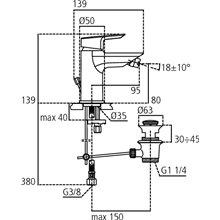 Miscelatore monocomando per bidet 5L Ceramix-Tesi Ideal Standard