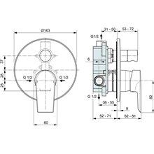 Set da incasso esterno per doccia Ceramix-Tesi Ideal Standard