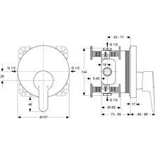 Miscelatore a incasso per doccia Connect Ideal Standard