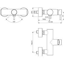 Miscelatore monocomando esterno per doccia Mara Ideal Standard