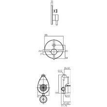 Miscelatore a incasso per vasca-doccia Mara Ideal Standard