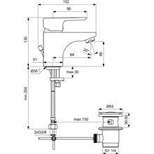 Miscelatore monocomando 5L lavabo Ceraplan III Ideal Standard