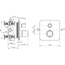 Miscelatore a incasso per doccia Tonic II Ideal Standard