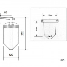 Dispenser di sapone traslucido Basic Nofer