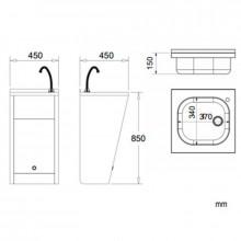 Lavabo regolabile elettronico acciaio NOFER