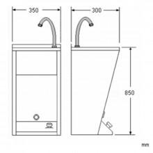 Lavabo regolabile mini acciaio NOFER