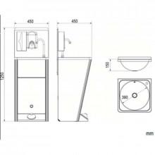 Lavabo portatile in acciaio NOFER