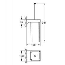 Porta scopino da parete Selection Cube Grohe