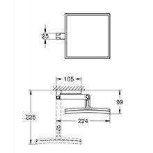 Specchio con ingrandimento Selection Cube Grohe