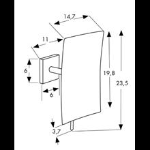 Specchio con ingrandimento x5 quadrato Baño Diseño