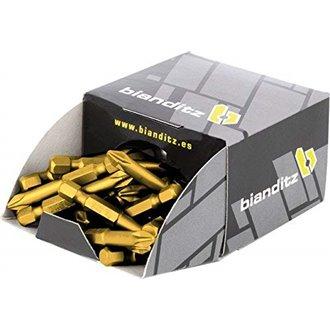 Kit 50 punte titanio 2x50 mm Bianditz
