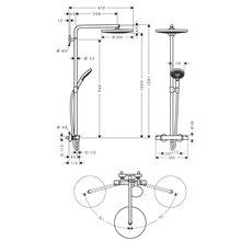 Colonna doccia  Raindance Select S 2jet 300 Hansgrohe