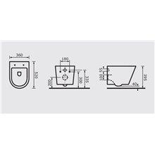 Vaso WC sospeso Arco P3