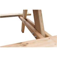 Tavolo da picnic in legno 177x151x77 cm Gardiun
