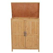 Casetta da giardino in legno con porte Outsunny