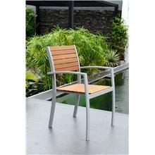 Sedia in alluminio e legno Bergamo Chillvert
