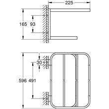 Porta asciugamano multiplo 60 cm cromato Selection Grohe