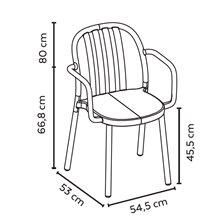 Set di 2 sedie color sabbia con braccioli Sue...