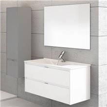 Mobile con lavabo bianco brillante Ibiza 100 TEGLER