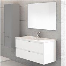 Mobile con lavabo con una vasca bianco brillante Ibiza 120 TEGLER