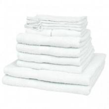 vidaXL Juego de toallas 12 piezas algodón 500...