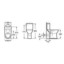 Vaso monoblocco scarico verticale Access ROCA