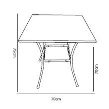 Tavolo quadrato mosaico PAROS Resol