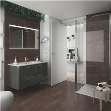 Mobile bagno 101 cm 2 cassetti grigio lucido FUSSION CHROME SALGAR