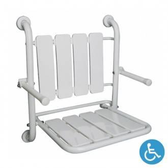 Sedile per doccia pieghevole WCCARE fissato a muro con braccioli