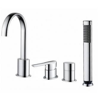 Batteria rubinetto Mikura per bagno con doccino