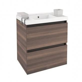 Mobile con lavabo in resina 60 cm Frassino B-Box BATH+