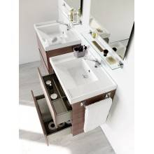 Mobile con lavabo in resina 60 cm Frassino B-Box BATH+