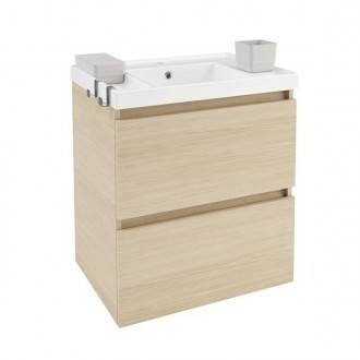 Mobile con lavabo in resina 60 cm Rovere naturale B-Box BATH+